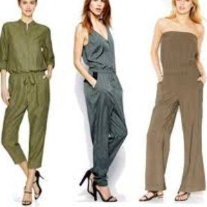 """RACHEL ROY ARMY GREEN"""" STRAPLESS JUMPSUIT SIZE S"""